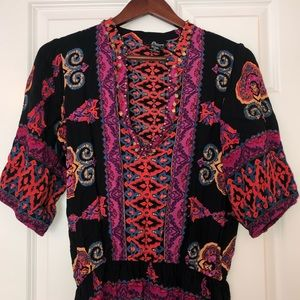 Bright Boho Tunic Top